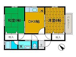 チャチャハウス[2階]の間取り
