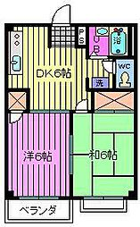 埼玉県さいたま市緑区松木2丁目の賃貸アパートの間取り