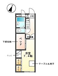 愛知県名古屋市緑区篠の風2丁目の賃貸アパートの間取り