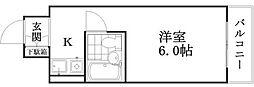 東京都世田谷区砧1丁目の賃貸マンションの間取り