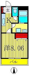 千葉県柏市ひばりが丘の賃貸マンションの間取り
