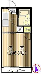 戸塚駅徒歩6分 パレスSI102号室[1階]の間取り