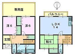 [テラスハウス] 奈良県奈良市西ノ京町 の賃貸【/】の間取り
