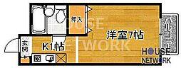 KITANOクレセント[302号室号室]の間取り