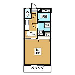 下東野コーポII[1階]の間取り