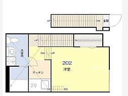 グランコンフォール東墨田[202号室]の間取り
