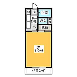 アメニティ若松[1階]の間取り