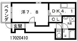 サンククレール[1階]の間取り