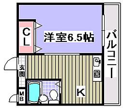 ボヌール伯太[2階]の間取り