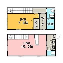 AP-BOX TAKANO2 1階1LDKの間取り