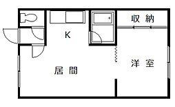 ブルーハウス[1階]の間取り