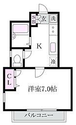 パークサイドK[1階]の間取り