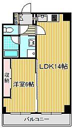 神奈川県川崎市中原区下新城3丁目の賃貸マンションの間取り