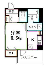 JR総武線 荻窪駅 徒歩8分の賃貸アパート 3階1Kの間取り