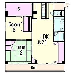 らっくマンション[3階]の間取り