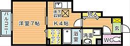 プレステージ二島 A棟[1階]の間取り