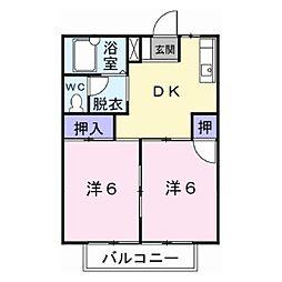 シティハイツ佐藤[A103号室]の間取り