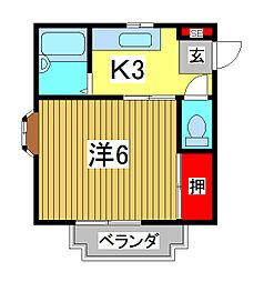 桜マークIヴィレッヂ[2階]の間取り