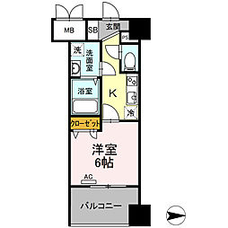 Trio Mare 蔵前(トリオマーレクラマエ) 7階1Kの間取り