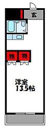 ジョイフル古賀[4階]の間取り