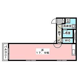 白壁ふたば荘[3階]の間取り