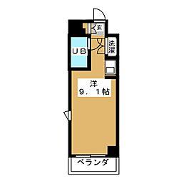 ラフィネ杁中[3階]の間取り