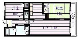 メゾン・ドゥ・ボヌール[4階]の間取り