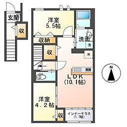 (仮称)茂原市早野新築アパート[205号室]の間取り