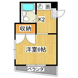 ブランドールハウス[4階]の間取り