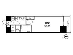 Osaka Metro千日前線 阿波座駅 徒歩5分の賃貸マンション 5階1Kの間取り