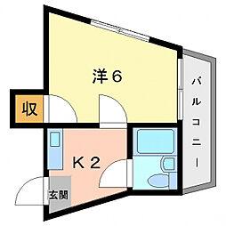 Kプラザ上神田[2階]の間取り