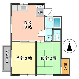 東京都江戸川区東小岩3丁目の賃貸アパートの間取り