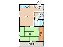 平田コーポ[1階]の間取り