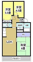 Kフラット11[2階]の間取り