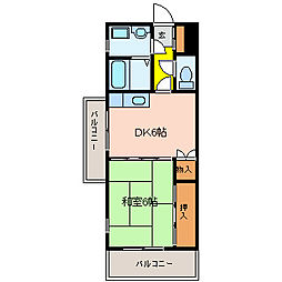 サンルミネ館[4階]の間取り