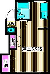 宮田荘[2階]の間取り