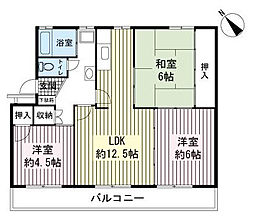 AZ Garden千本浜公園[1階]の間取り