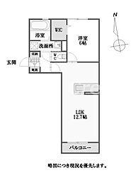 徳島県徳島市庄町1丁目の賃貸アパートの間取り