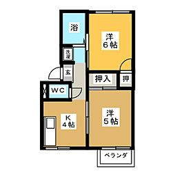コーポHIKARI[2階]の間取り