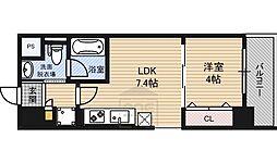 La CASA 京橋 2階1LDKの間取り