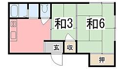 コーエイマンション[1-nisi号室]の間取り