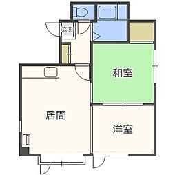 北海道札幌市中央区北九条西24丁目の賃貸アパートの間取り
