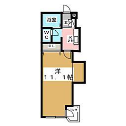 ルガール白水沢[4階]の間取り