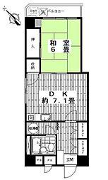 ワコー東日本橋マンション[5階号室]の間取り