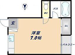 第一瓢箪山ハイツ[2階]の間取り