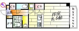 アビンジャーコート[6階]の間取り