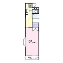 コーポラスK2[2階]の間取り