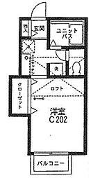 ジョイコーポ座間C棟[202号室]の間取り