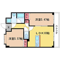 東明マンション壱番館[3階]の間取り
