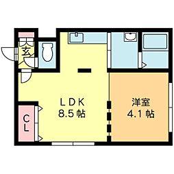 北海道札幌市北区北二十七条西3丁目の賃貸マンションの間取り